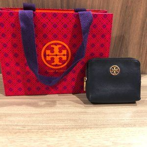 Tory Burch Robinson Square Coin Case Tory Navy